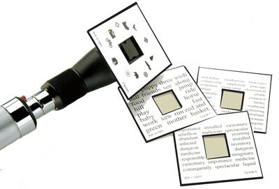 Welch Allyn Card fixare pentru Retinoscop, set – 4buc