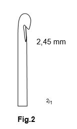 Carlig flebectomie Crochet Style, Fig.2