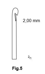 Carlig flebectomie Crochet Style, Fig.5