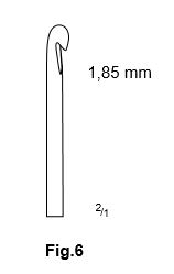 Carlig flebectomie Crochet Style, Fig.6