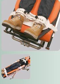 Sistem imobilizare picioare pe Brancarda / Targa cu lacat magnetic - Segufix