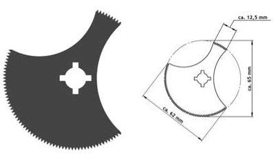 Lama segmentata pentru fierastrau Ø 50/65 mm